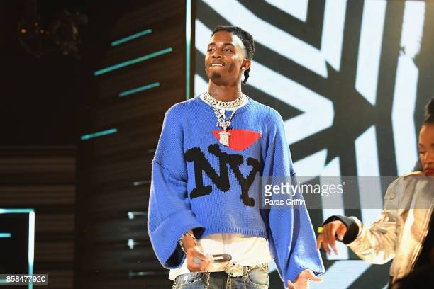 Rapper Playboi Carti performs onstage during the BET Hip Hop Awards 2017 at The Fillmore Miami Beach at the Jackie Gleason Theater on October 6 2017...