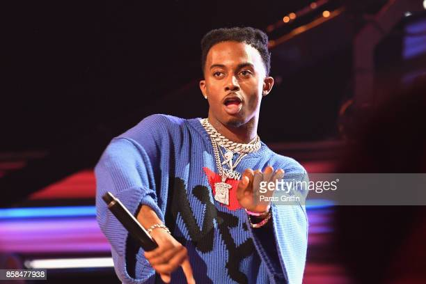 Rapper Playboi Carti performs onstage during the BET Hip Hop Awards 2017 at The Fillmore Miami Beach at the Jackie Gleason Theater on October 6, 2017...