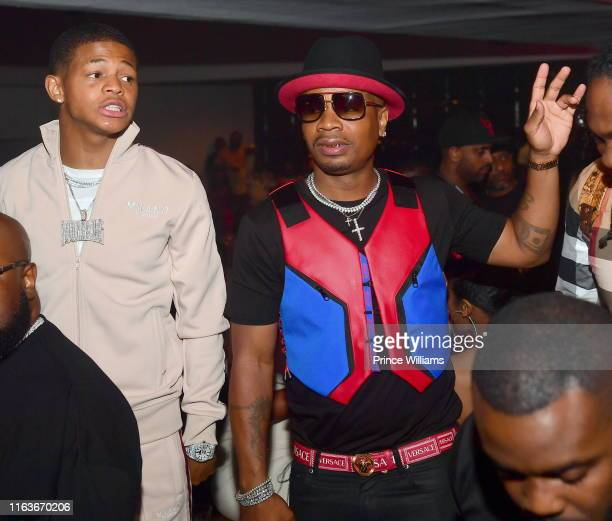 Rapper Plies and YK Osiris attend a Party at Compound on July 21 2019 in Atlanta Georgia