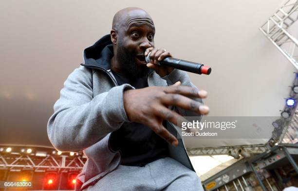 Rapper Posdnuos of De La Soul perform onstage during the Rachel Ray SXSW Feedback Party at Stubbs BBQ on March 18 2017 in Austin Texas