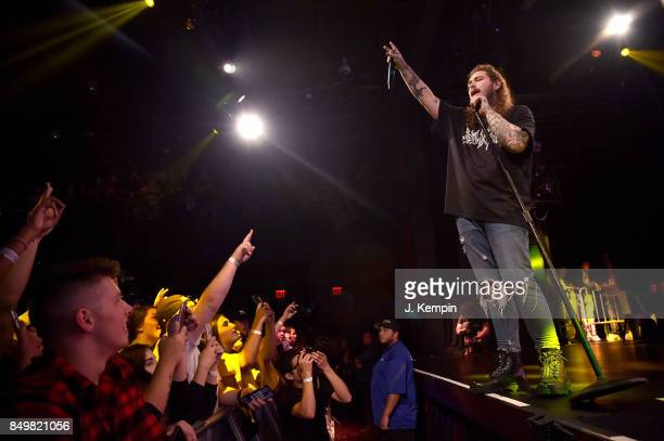 Rapper Post Malone performs at PlayStation Theater on September 19 2017 in New York City