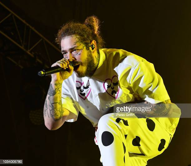 Post Malone Concert: Post Malone In Concert Atlanta Ga Stock Pictures, Royalty
