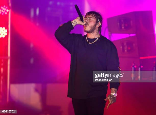 Rapper Post Malone performs on the second night of CBS RADIO's 'SPF' concert at The Boulevard Pool at The Cosmopolitan of Las Vegas on May 20, 2017...
