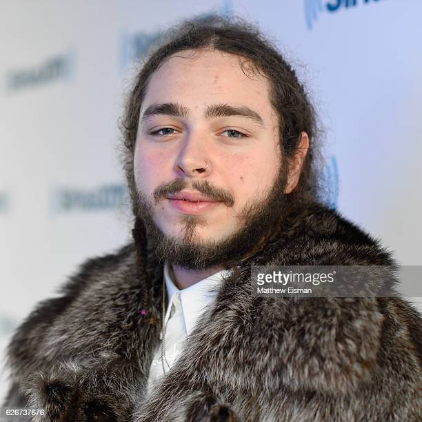 Rapper Post Malone visits SiriusXM Studio on November 30 2016 in New York City