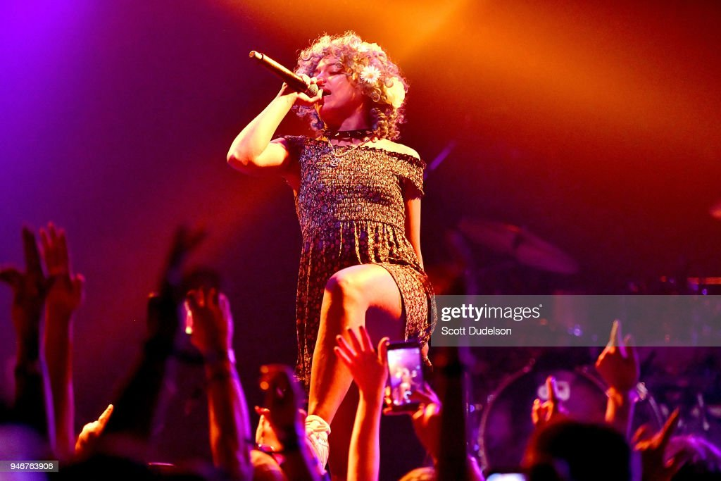 Rapper Princess Nokia performs on the Sonora stage during week 1, day 3 of the Coachella Valley Music and Arts Festival on April 15, 2018 in Indio, California.