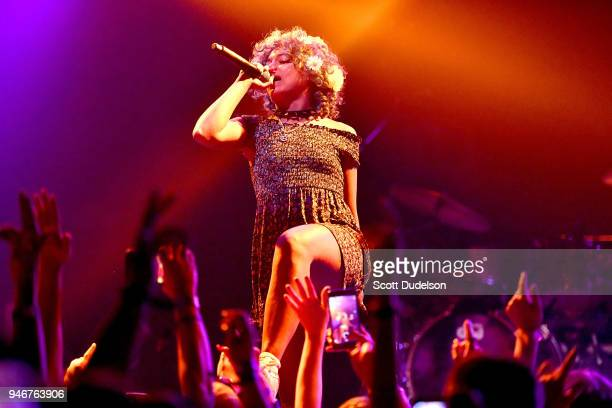 Rapper Princess Nokia performs on the Sonora stage during week 1 day 3 of the Coachella Valley Music and Arts Festival on April 15 2018 in Indio...
