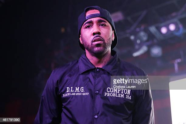 Rapper Problem performs at The Documentary 10th anniversary party and concert on January 18 2015 in Los Angeles California