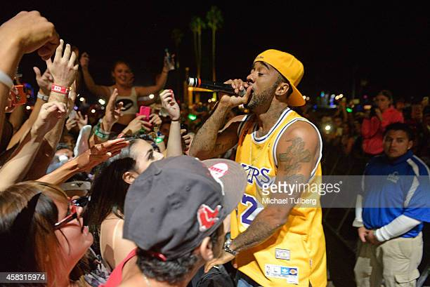 Rapper Problem performs during Day 2 of HARD Day Of The Dead 2014 at Fairplex on November 2 2014 in Pomona California