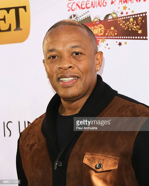Rapper / Producer Dr Dre attends the Kids In The Spotlight's Movies By Kids For Kids Film Awards at Fox Studios on November 7 2015 in Los Angeles...