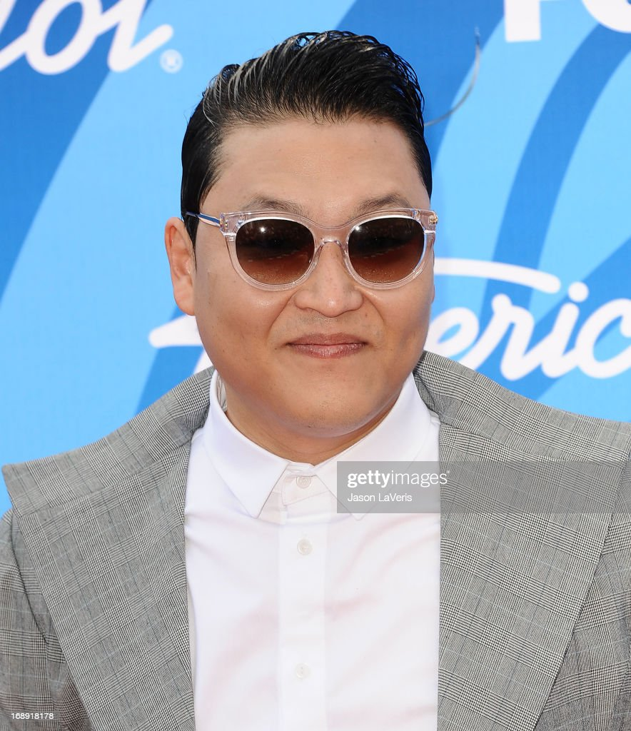 Rapper Psy attends the American Idol 2013 finale at Nokia Theatre L.A. Live on May 16, 2013 in Los Angeles, California.