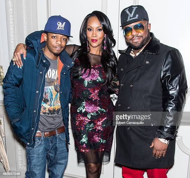 Rapper Punchline KID actress Vivica A Fox and Former Cruiserweight Boxer Simon 'One Punch' Carr attend Styled To Slay Smart Weft Launch Party Hair...