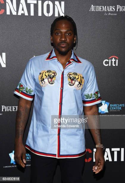 Rapper Pusha T arrives at Roc Nation's PreGRAMMY Brunch on February 11 2017 in Los Angeles California