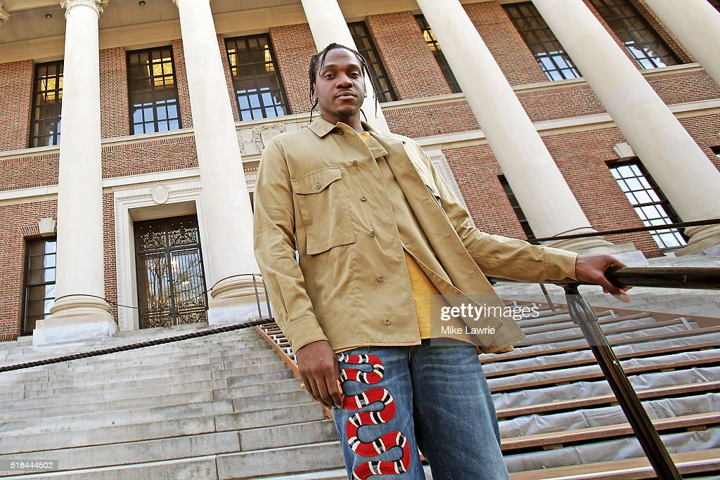 Pusha T Speaks At Harvard University : News Photo