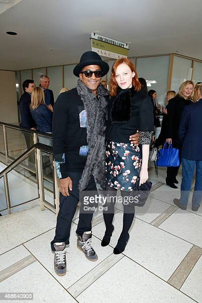 Rapper QTip and model Karen Elson attend the Tory Burch fashion show during MercedesBenz Fashion Week Fall 2014 at Avery Fisher Hall at Lincoln...