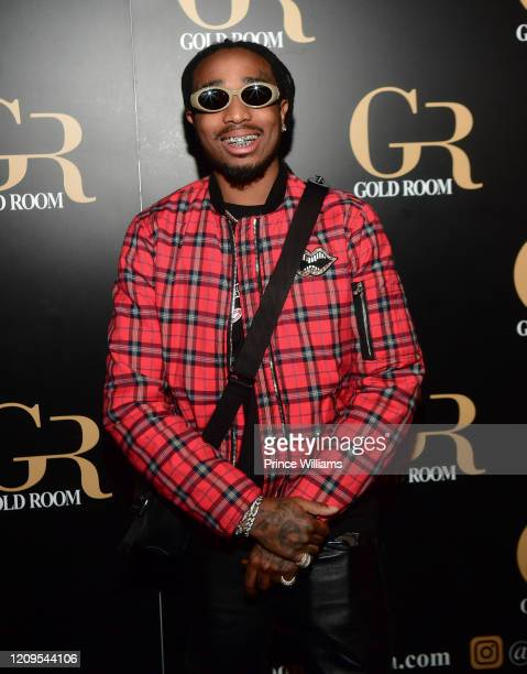 Rapper Quavo of Migos attends Hawks vs Nets After Party at Gold Room on February 28, 2020 in Atlanta, Georgia.