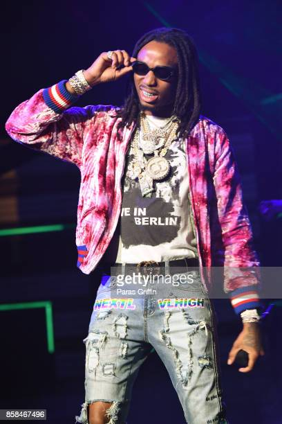 Rapper Quavo of Migos performs onstage during the BET Hip Hop Awards 2017 at The Fillmore Miami Beach at the Jackie Gleason Theater on October 6 2017...