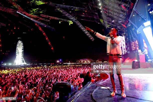 Rapper Quavo of the hip hop group Migos performs onstage during week 1 day 3 of the Coachella Valley Music And Arts Festival on April 15 2018 in...