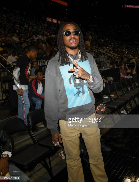 Rapper Quavo of the Migos attends the 2018 McDonald's All American Games at Philips Arena on March 28 2018 in Atlanta Georgia