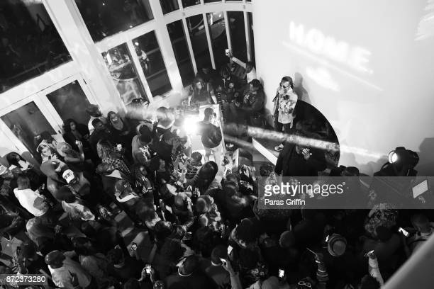 Rapper Quavo of the Migos performs onstage at HOME by Martell on November 9 2017 in Atlanta Georgia