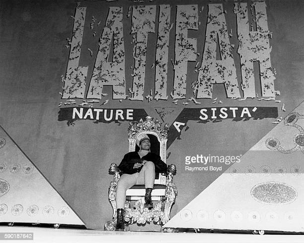 Rapper and actress Queen Latifah performs at the UIC Pavilion in Chicago Illinois in January 1991