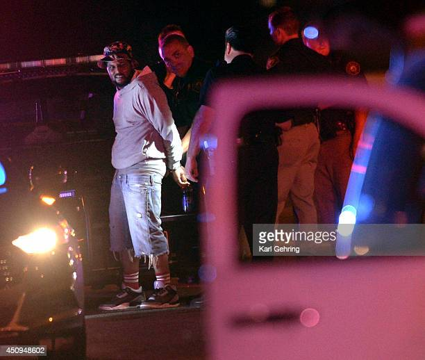 Rapper Quincey Hanley better known by his stage name Schoolboy Q was put into handcuffs as Denver Police investigated a shooting that occurred at Red...