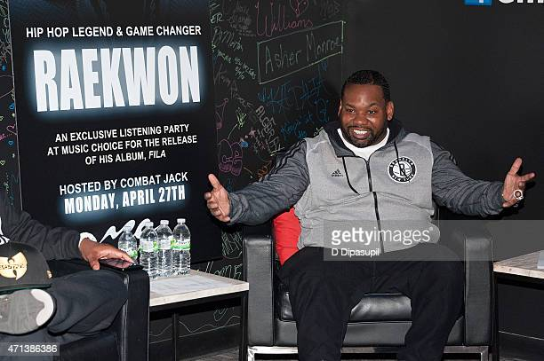 Rapper Raekwon attends a listening party for his album 'Fly International Luxurious Art' at Music Choice on April 27 2015 in New York City