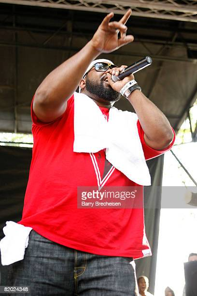 Rapper Raekwon performs at the Pitchfork Music Festival at Union Park July 20 2008 in Chicago Illinois