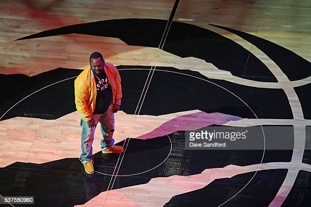 Rapper Raekwon performs during the Cleveland Cavaliers game 6 of the NBA Eastern Conference Finals against the Toronto Raptors during game 6 of the...