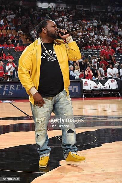 Rapper Raekwon performs during the Cleveland Cavaliers game 6 of the NBA Eastern Conference Finals against the Toronto Raptors at Air Canada Centre...