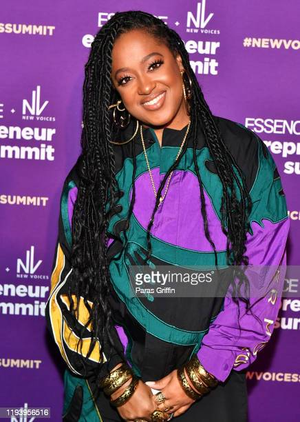 Rapper Rapsody attends ESSENCE New Voices Entrepreneur Summit And Target Holiday Market at West End Production Park on December 14 2019 in Atlanta...
