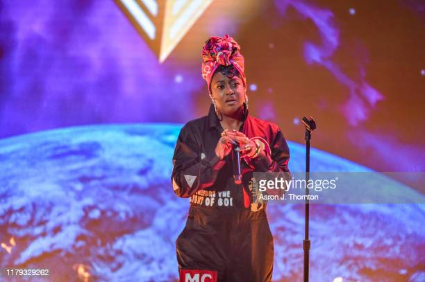 Rapper Rapsody performs onstage at the 2019 BET Hip Hop Awards at Cobb Energy Performing Arts Centre on October 05 2019 in Atlanta Georgia