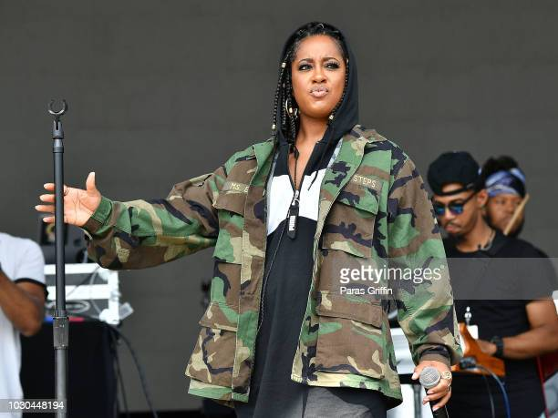 Rapper Rapsody performs onstage during 2018 ONE Musicfest at Atlanta Central Park on September 9 2018 in Atlanta Georgia