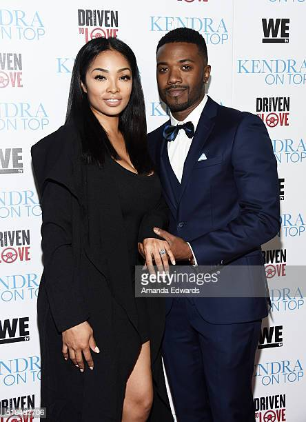 Rapper Ray J and his fiance Princess Love arrive at the WE tv celebration of the premiere of 'Kendra On Top' and 'Driven To Love' at Estrella Sunset...