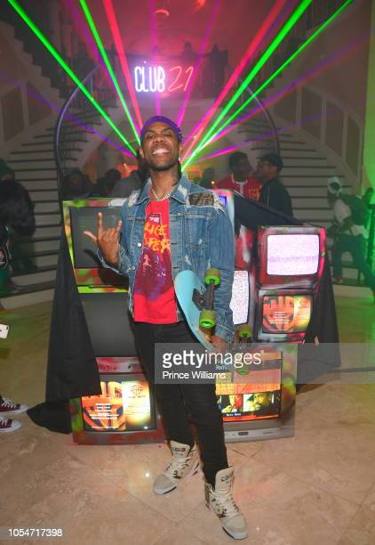 Rapper Reese Laflare attends 21 Savage Halloween birthday bash on October 28 2018 in Atlanta Georgia
