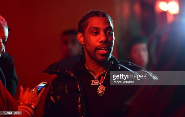 Rapper Reese Laflare attends Motel 21 I Am > I Was Private Listening Experience on December 21 2018 in Atlanta Georgia