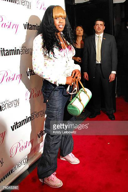 Rapper Remy Ma attends a launch party for Pastry footwear by Vanessa and Angela Simmons on May 1 2007 in New York City