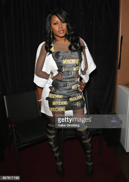 Rapper Remy Ma attends the 10th annual Tempted2Touch Black LGBT Pride Spring Break Getaway at Myst Nightclub inside the Tommy Wind Theatre on March...