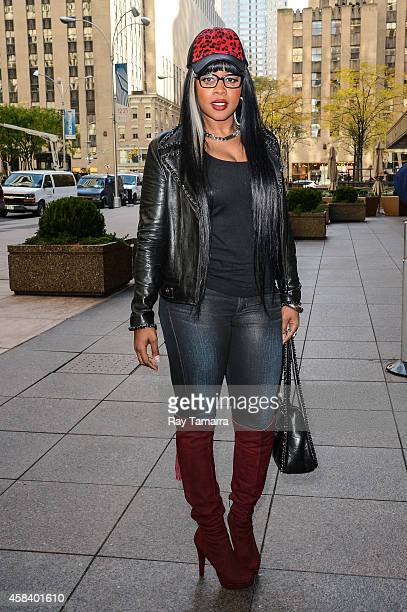 Rapper Remy Ma enters the Sirius XM Studios on November 4 2014 in New York City