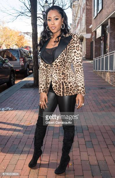 Rapper Remy Ma visits 'The Q' Show to promote her new single titled 'Wake Me Up' featuring Lil Kim at FOX 29 Studio on November 16 2017 in...
