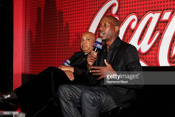 Rapper Rev Run of Run DMC and singer Tyrese Gibson discusses their book 'MANOLOGY Secrets of Your Man's Mind Revealed' in the WGCIFM 'CocaCola...