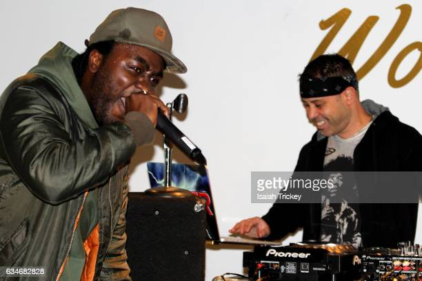 Rapper Rich Kidd and DJ Power perform during 'Woke' a hip hop and soul concert at the Harbourfront Centre on February 10, 2017 in Toronto, Canada.