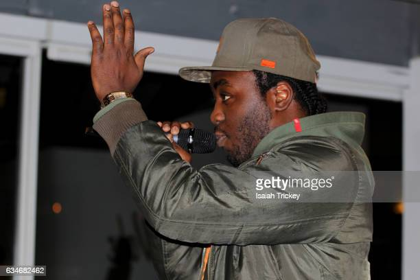 Rapper Rich Kidd performs during 'Woke' a hip hop and soul concert at the Harbourfront Centre on February 10 2017 in Toronto Canada