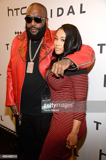 Rapper Rick Ross and Lira Galore attend TIDAL X 1020 Amplified by HTC at Barclays Center of Brooklyn on October 20 2015 in New York City