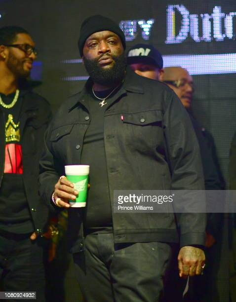 Rapper Rick Ross attends A Craft Syndicate Music Collaboration Unveiling Event at Opera Atlanta on December 10 2018 in Atlanta Georgia
