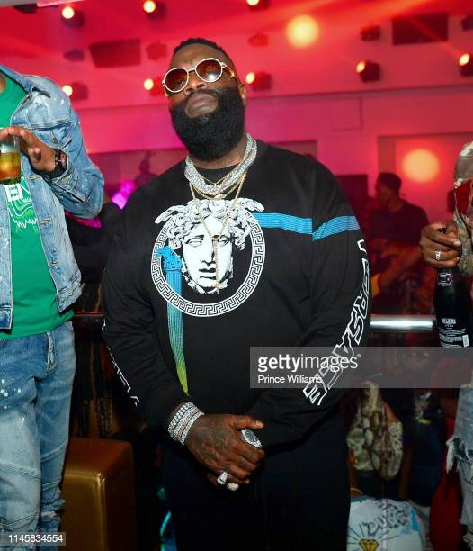 Rapper Rick Ross attends a Party hosted by Rick Ross at Compound on April 28 2019 in Atlanta Georgia