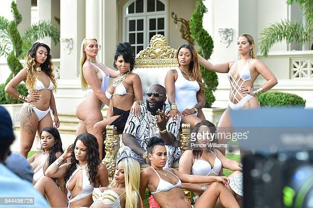 Rapper Rick Ross attends MMG Weekend's The #BIGGEST Pool Party on July 3 2016 in Fayetteville Georgia