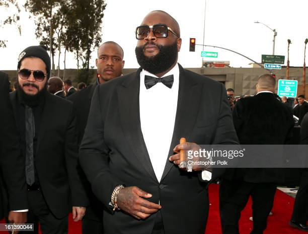 Rapper Rick Ross attends the 55th Annual GRAMMY Awards at STAPLES Center on February 10 2013 in Los Angeles California