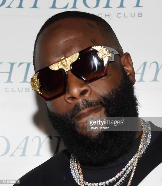 Rapper Rick Ross attends the official Eclipse launch party at Daylight Beach Club at the Mandalay Bay Resort and Casino on April 21 2017 in Las Vegas...
