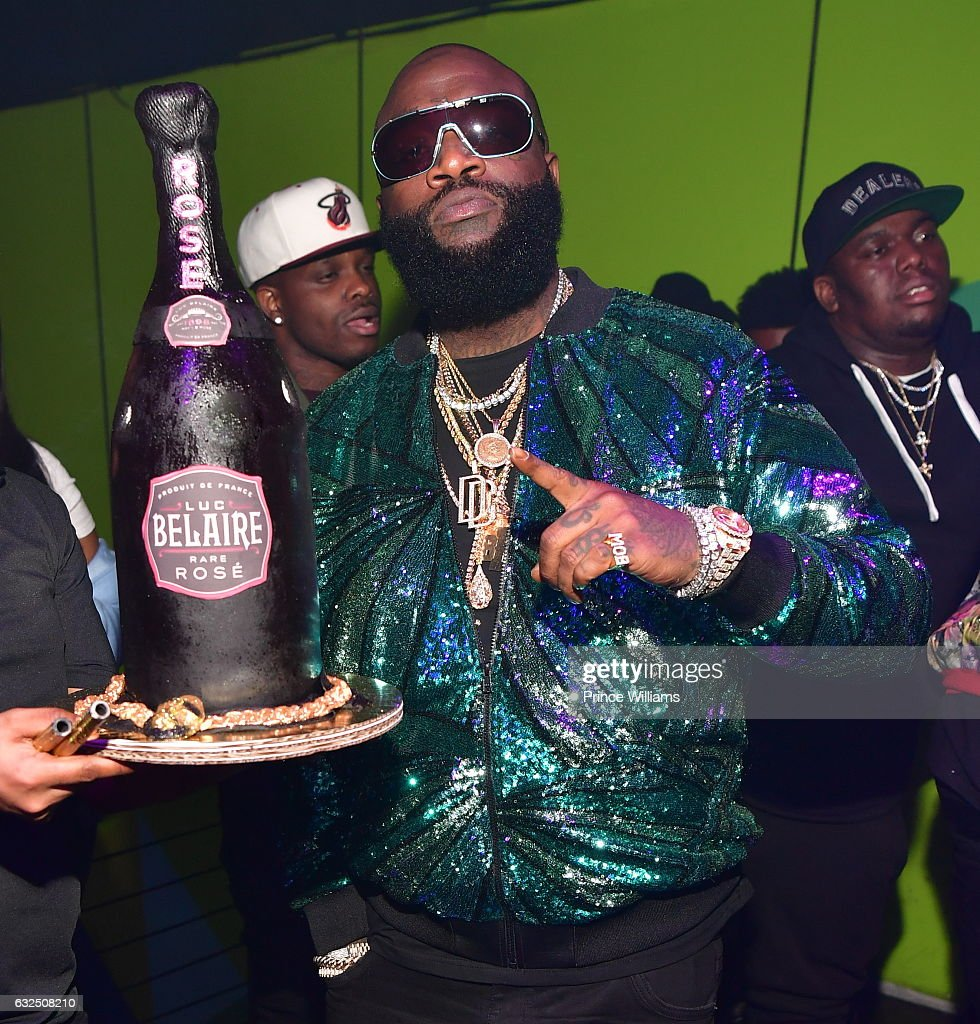 Rapper Rick Ross attends The Rick Ross Birthday Bash at XS Lounge on January 23, 2017 in Atlanta, Georgia.