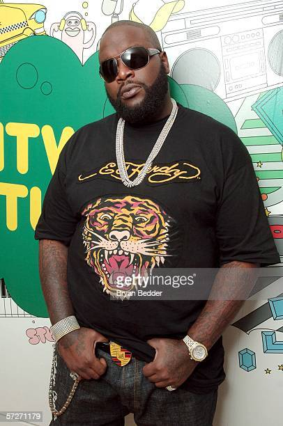 Rapper Rick Ross makes an appearance at MTV studios for a taping of MTV 2 Presents Sucker Free Week on April 6 2006 in New York City